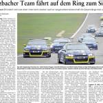Etzbacher Team fährt auf dem Ring zum Sieg