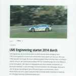 VLN.de LMS Engineering startet 2014 durch