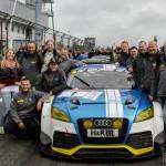 Sensationelles Debüt des Audi TTRS 2 von LMS Engineering beim siebten VLN Lauf